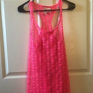 Miken Pink Swim Cover Up Dress Sz S